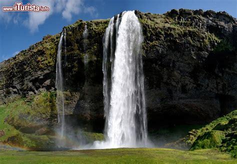 Ijsland Nigeria Cascata Liquida Seljalandsfoss Islanda Formato Dalle