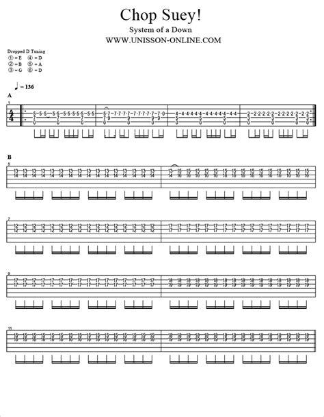 Chop Suey Guitar Chords