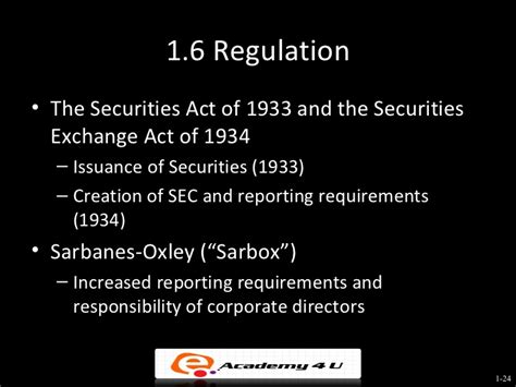 Securities Act Of 1933 Section 4 by Introduction To Corporate Finance