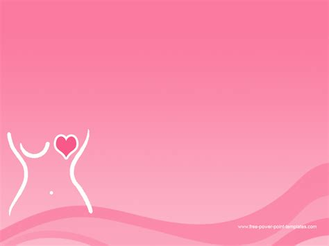 Breast Cancer Awareness Backgrounds Wallpapersafari Breast Cancer Ppt Template Free