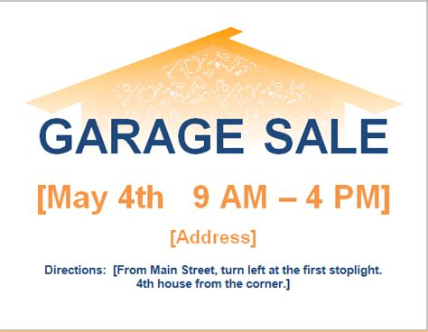 Garage Sale Flyer Template Word by 10 Ms Word Editable Printable Flyer Templates Word