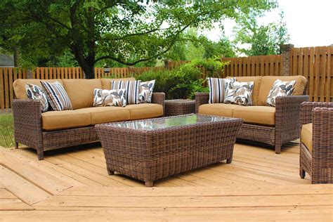 patio furniture seating groups oceana resin wicker pillow back outdoor seating