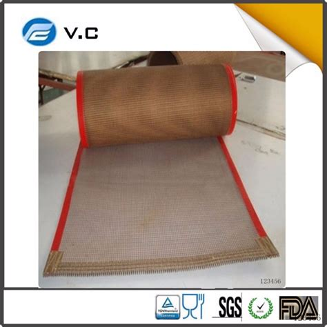 Teflon Maker china manufacturer high temperature teflon mesh conveyor