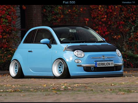 stanced smart car stanced fiat 500 cars one love