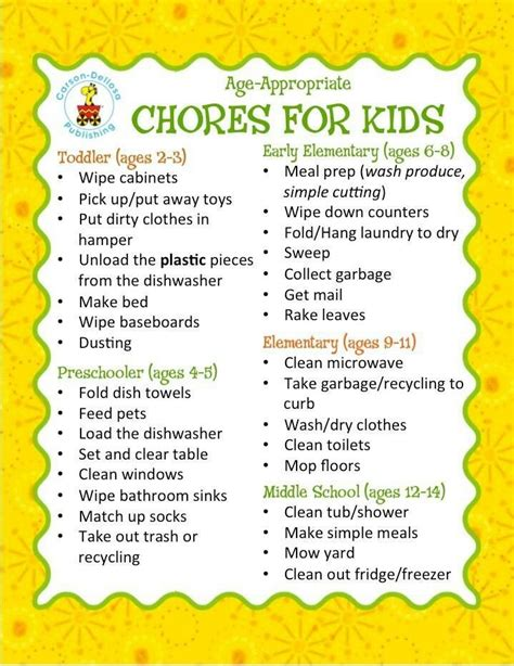 6 best images of 5 year old chore chart 3 year old chore age appropriate chores for 8 year olds google search