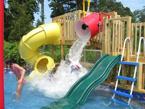 Backyard Water Slide by Best 25 Pool Slides Ideas Only On Swimming