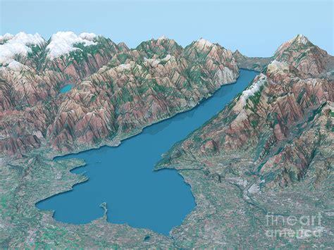 festival painting lago di garda lago di garda topographic map 3d landscape view