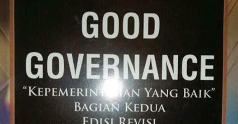 Governance Bagian Kedua Edisi Revisi toko buku sang media governance kepemerintahan yang baik bagian kedua edisi revisi