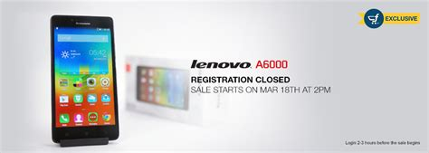 Lenovo A6000 Di Counter Tricks To Buy Lenovo A6000 4g Flash Sale On 18 March