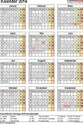 Kalender 2018 Zum Ausdrucken Eine Seite Kalender 2018 Zum Ausdrucken Als Pdf 16 Vorlagen Kostenlos