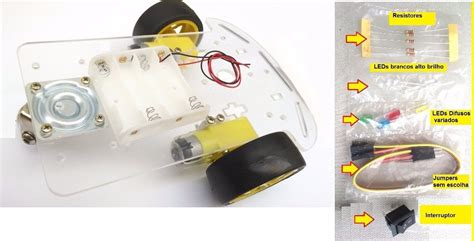 Roda Robot Arduino chassi 2 roda robot arduino tutorial brinde l298n