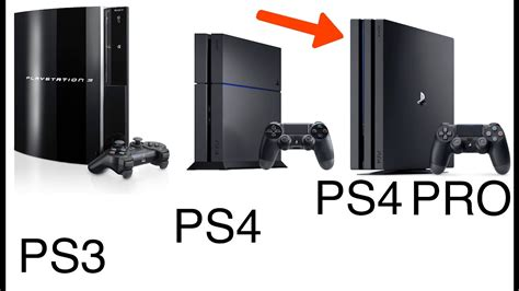 ps3 ps4 ps4 pro vs ps4 vs ps3