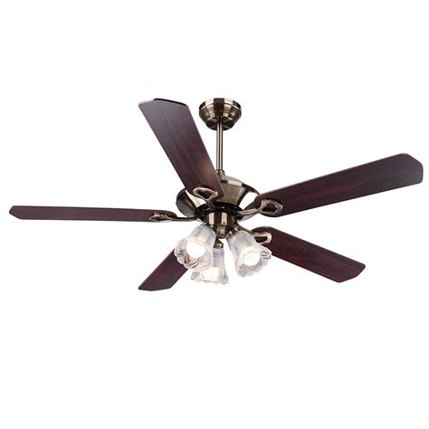 remote control reversible ceiling fans 52 5 blades ceiling fan with light kit antique bronze
