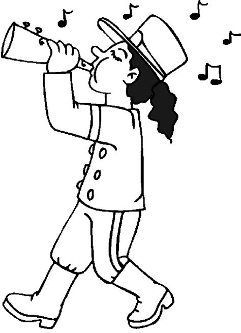Marching Band Coloring Pages Marching Band Horn Player Marching Band Coloring Pages