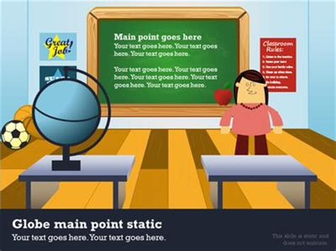 In The Classroom A Powerpoint Template From Presentermedia Com Classroom Powerpoint Templates