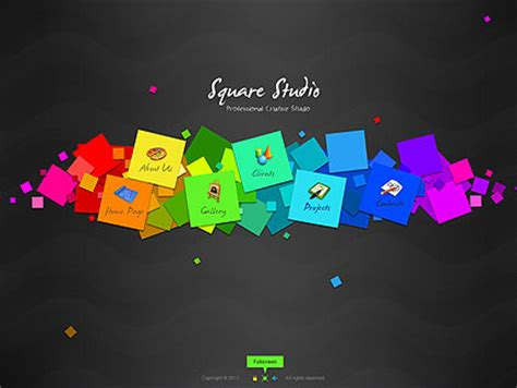 square studio flash website template best website templates