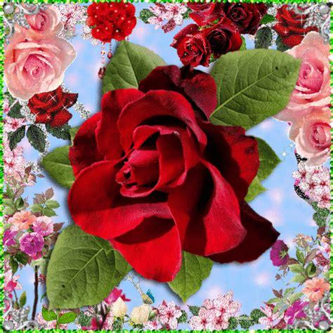imagenes de flores lindas animadas animaciones con rosas o flores con brillo y destello