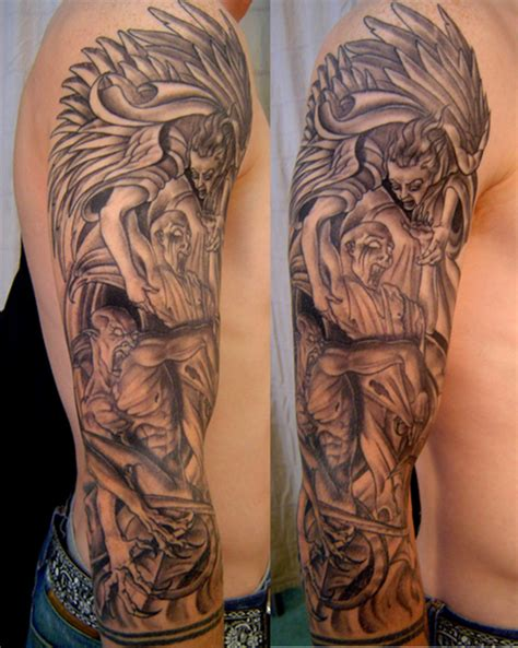 heaven hell tattoo designs heaven and hell picture at checkoutmyink