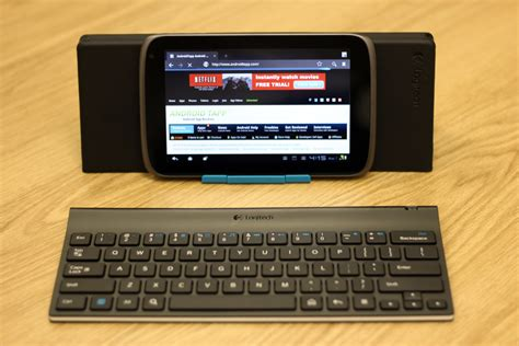 keyboard for android tablet logitech tablet keyboard with tablet and stand androidtapp