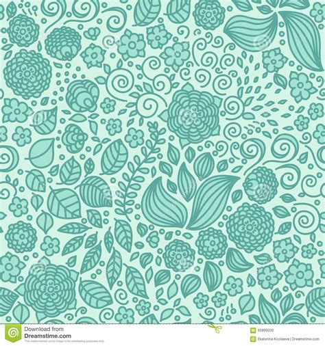 doodle wallpaper free floral doodle wallpaper seamless pattern stock vector