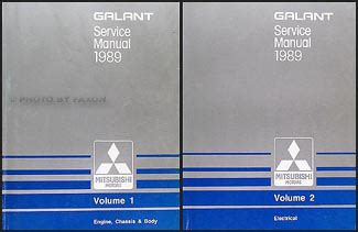 1989 1990 mitsubishi galant repair shop manual set original 1989 mitsubishi galant repair shop manual set original