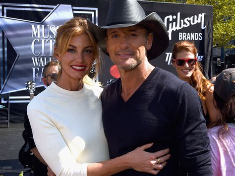 Tim Mcgraw Receives A On The Walk Of Fame by Faith Hill And Tim Mcgraw Receive On City Walk