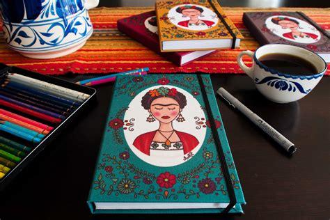 frida fiori frida kahlo con fiori notebook