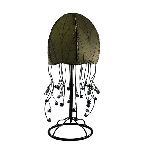 eangee home design lighting eangee 399 t g jellyfish table l in green cocoa leaves