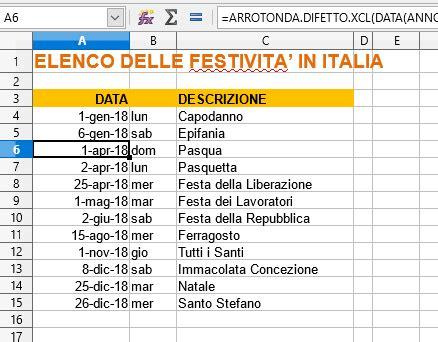 Calendario 2018 Excel Italiano Calendario 2018 In Formato Excel Con Le Festivit 224 Italiane
