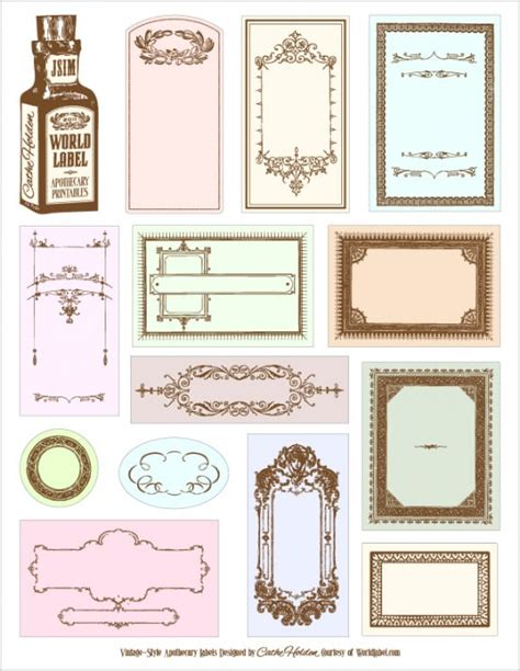 free printable vintage label templates 78 free printable labels and beautiful tags tip junkie