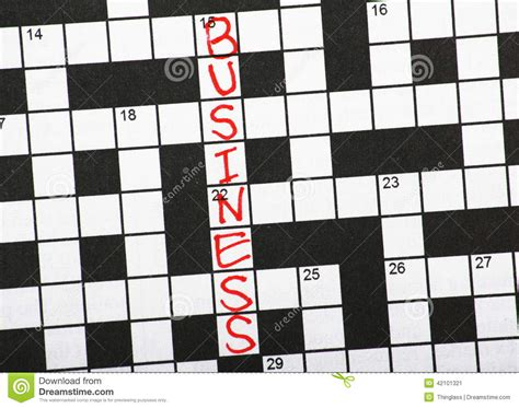 business letters crossword business crossword clue stock photo image 42101321