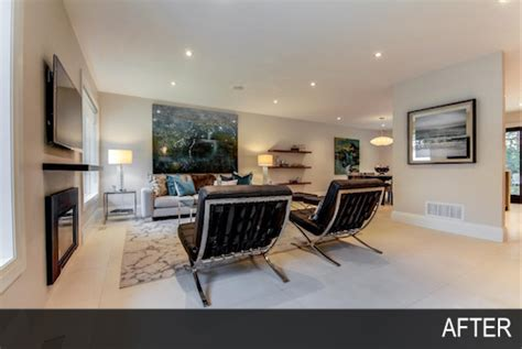 after stable overhaul living room best before and after toronto home staging by hope designs home staging toronto