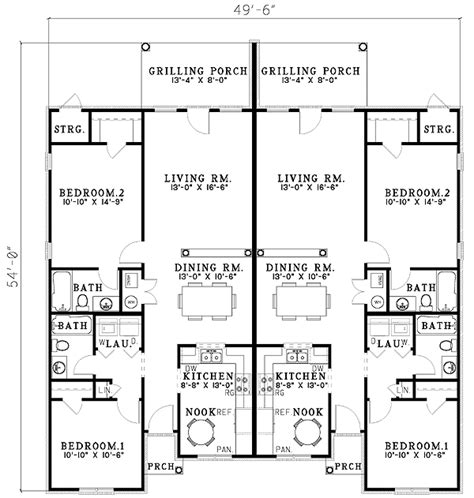 Single Family House Plans by Duplex With Single Family Appeal 59308nd Architectural