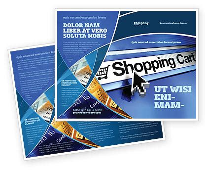e brochure template e shopping cart brochure template