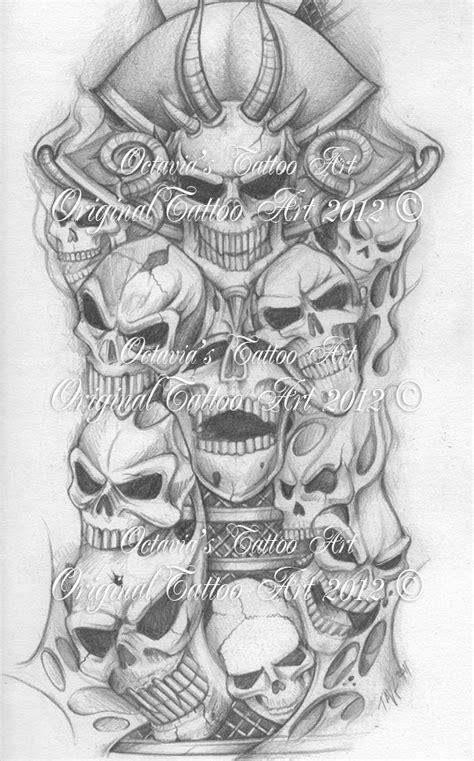 skull sleeve tattoos designs skull half sleeve design for 3 jpg 600 215 964