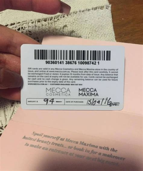 Mecca Gift Card - woman posts photo online but accidentally reveals too much life life style