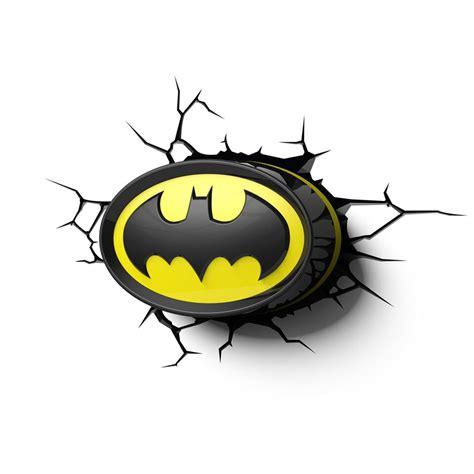 batman logo 3d led wall light new official bedroom