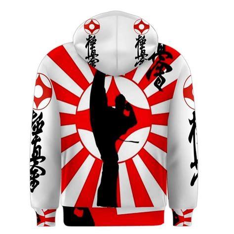 design hoodie with logo karate kyokushin japan kamikaze flag kanji logo design 3d
