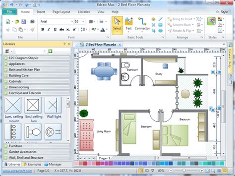 Kitchen Cabinet Designer Online by Floor Plan Software Create Floor Plan Easily From