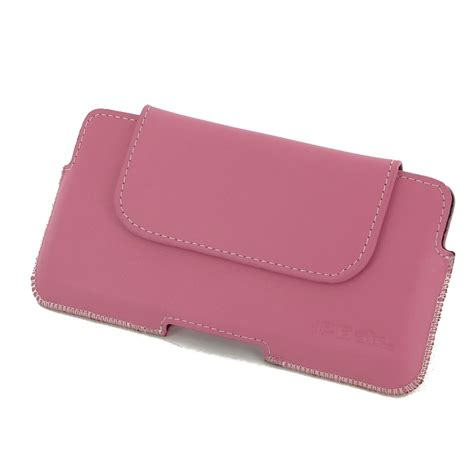 Pink Pouch iphone 7 plus leather holster pouch petal pink pdair sleeve