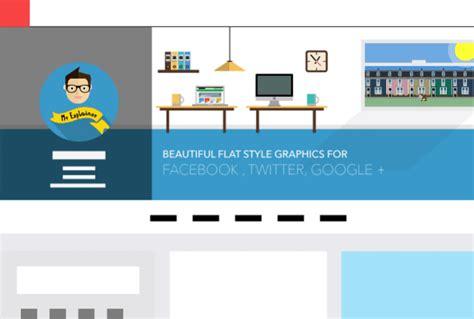 google design twitter design flat style facebook twitter google cover by mrexplainer