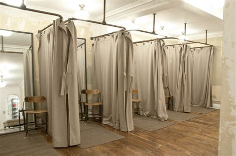 the curtain boutique like the ease of this in all white retail dressing room