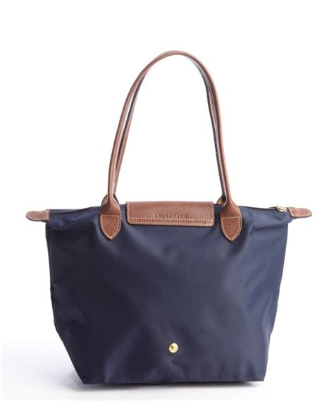 Longch Le Pliage Slh Navy longch navy le pliage small shopper tote in blue lyst