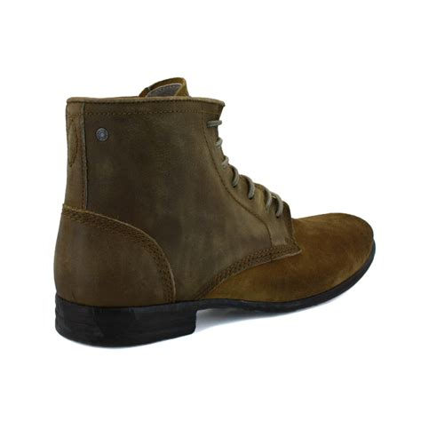 diesel chrom hi mens laced leather suede ankle boots