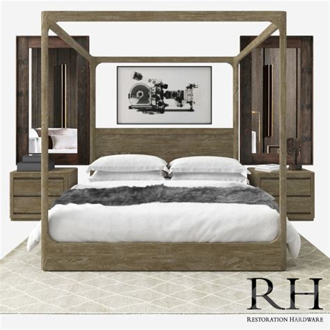 rh beds 3d models bed rh modern martens bedroom set