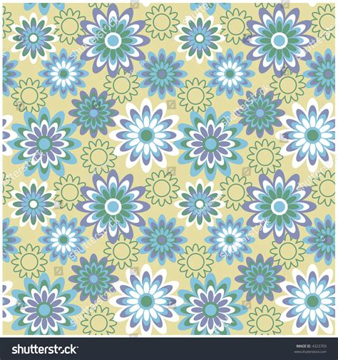 a seamless repeating retro floral seamless repeating retro floral pattern fashion stock