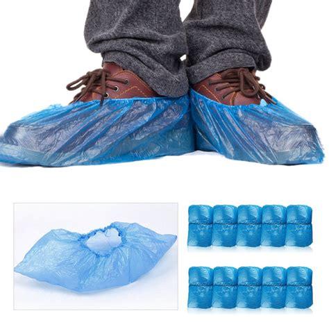 Shoe Plastic Cover 100pcs plastic waterproof disposable shoe covers