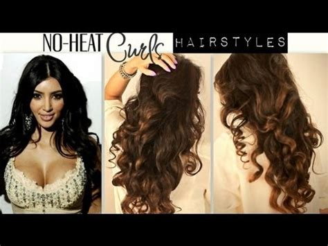 easy hairstyles for medium hair no heat no heat kim kardashian curls waves heatless cute school