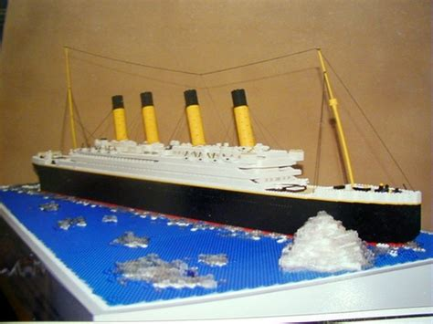 How To Make A Titanic Model Out Of Paper - lego titanic model a lego 174 creation by william w