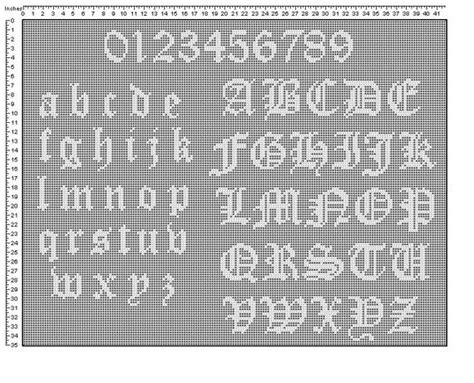 letter pattern in english instant download olde english alphabet pattern